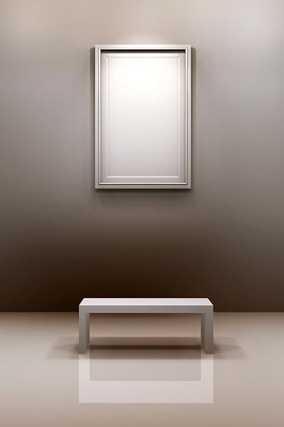 hall frame chair stock photo