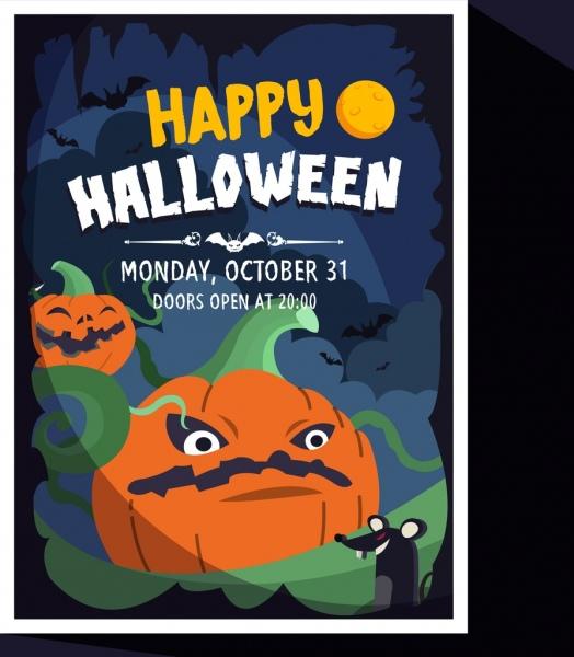 halloween banner scary pumpkins rats decor