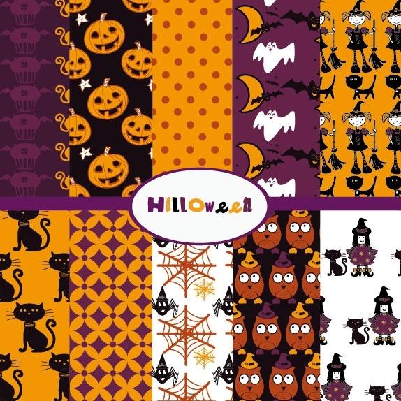 halloween cartoon background 02 vector