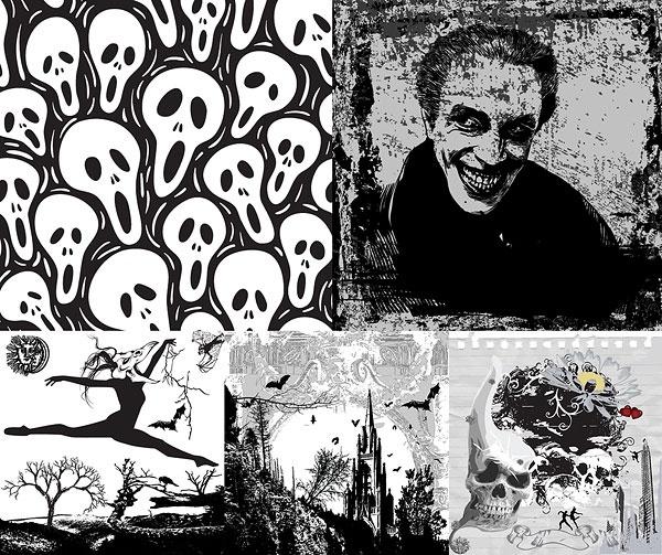 halloween clip art of terror