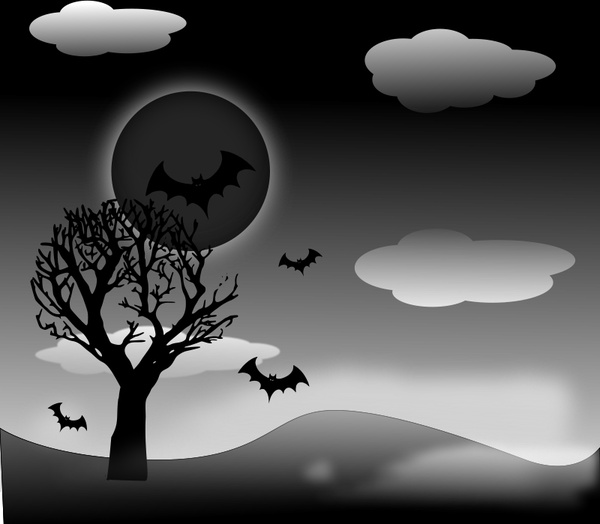 Halloween Landscape Free Vector In Open Office Drawing Svg