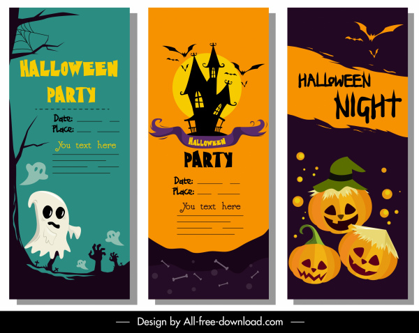 Halloween Poster Background Free.Halloween Poster Templates Classic Colorful Horror Decor