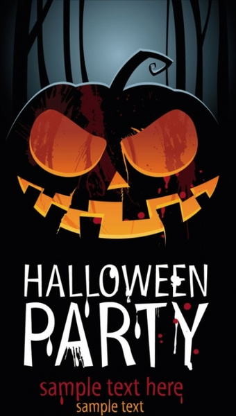 halloween posters beautiful background 03 vector