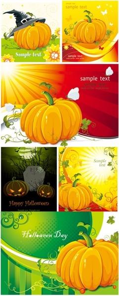 halloween pumpkin element vector