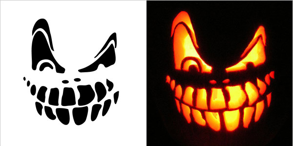 halloween scary pumpkin carving stencils free vector in adobe rh all free download com scary pumpkin carving ideas 2018 scary pumpkin carving patterns printable