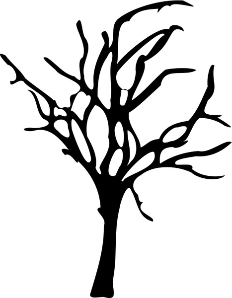 halloween small dead tree free vector in open office drawing svg rh all free download com dead tree vector art dead tree vector image