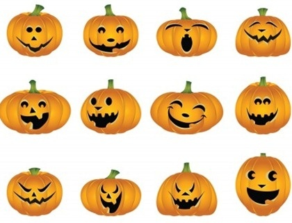 Halloween Vector Pumpkins