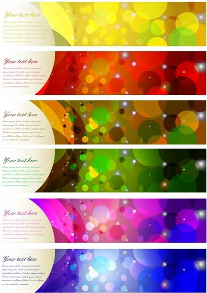 decorative banner templates colorful bokeh horizontal design