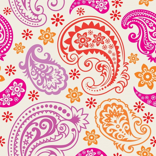 abstract pattern colorful classic traditional decor flat design