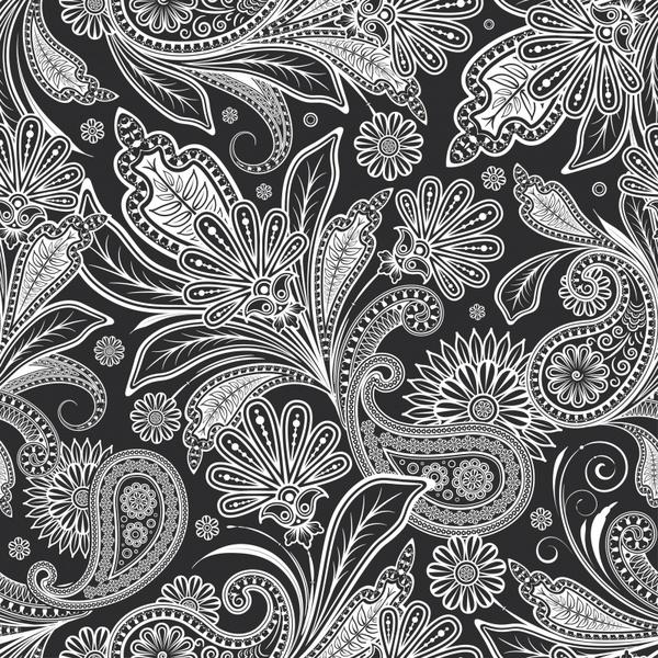 decorative pattern classical black white ethnic leaves mandala
