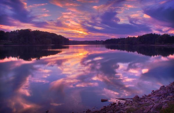 hammertown lake sunset