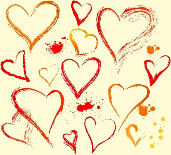 Hand draw heart shape