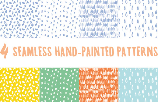 hand drawing cute vector seamless pattern vector