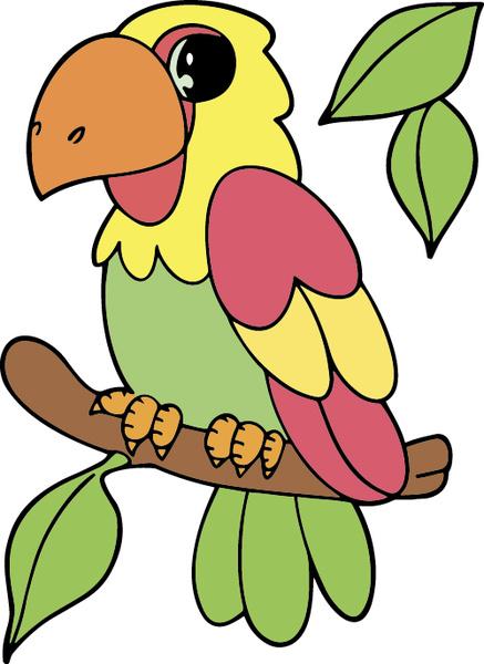 Hand Drawn Bird Cartoon Styles Vector Free 76318KB
