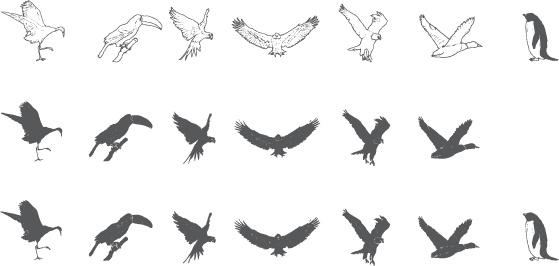Hand Drawn Birds Sketch Vectors Free Vector 498MB