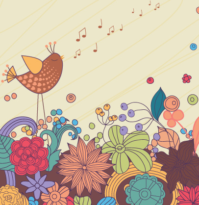 hand drawn cheerful background vector set