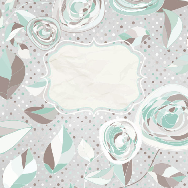 hand drawn floral and paper of background vector