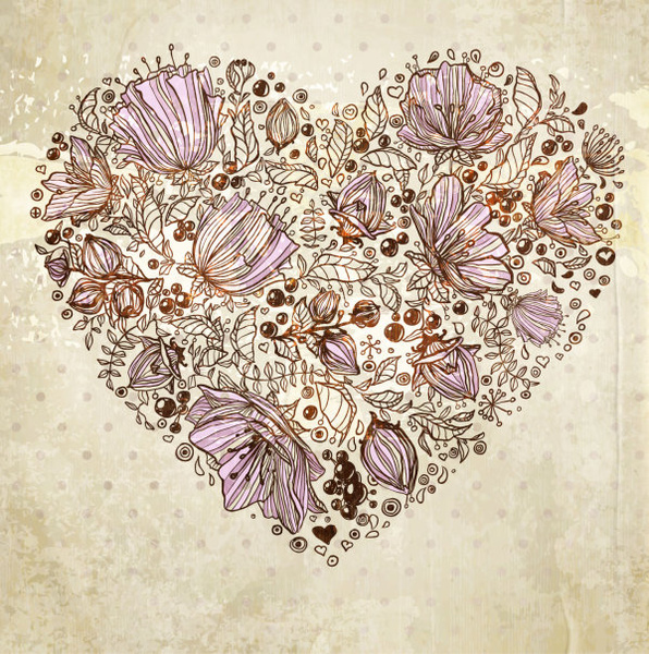 hand drawn flower vector background art