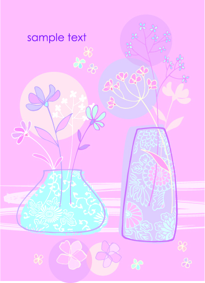 hand drawn flowers vector backgrounds art