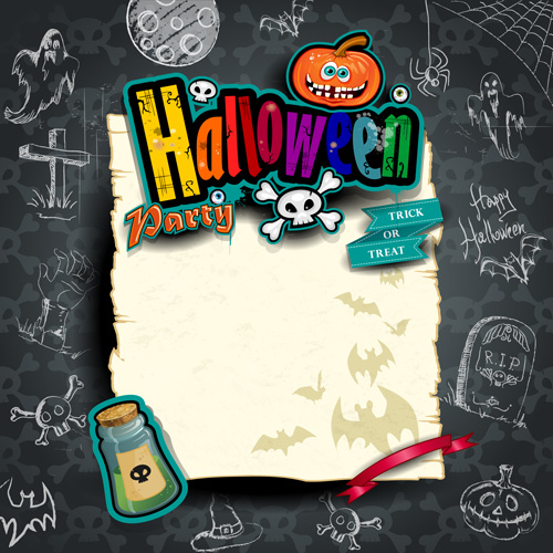 hand drawn halloween party background