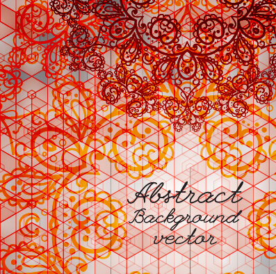 hand drawn lace abstract background