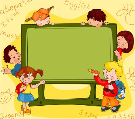 Hand drawn school kids vector background Free vector in ...