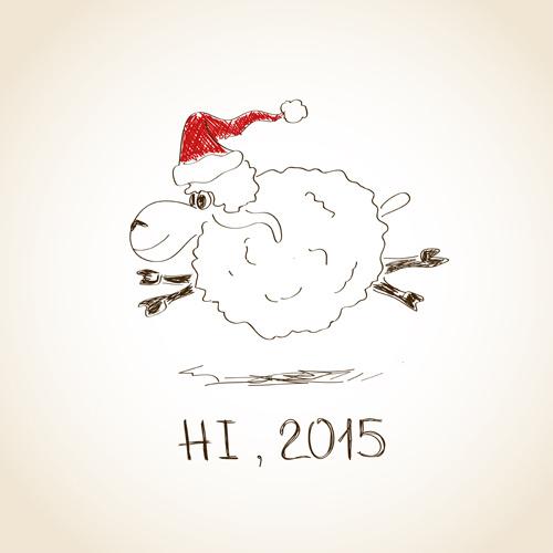 hand drawn sheep year15 background