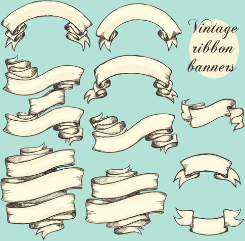 vintage ribbon eps free vector download (177,190 free vector) for