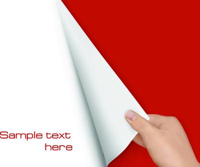 hand open book vector set