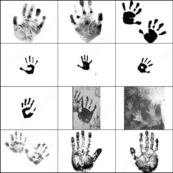 hand print brush