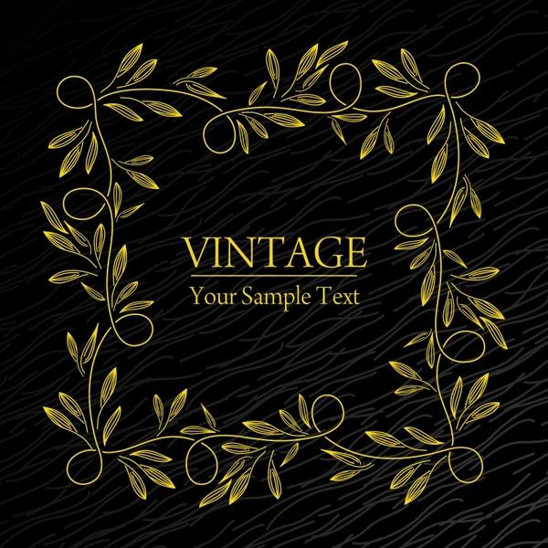 vintage frame template handdrawn seamless leaf decor