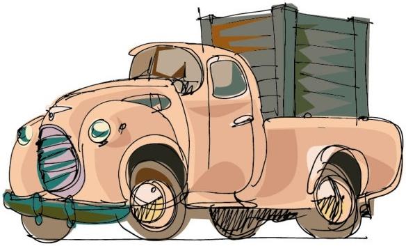 handpainted cartoon car 02 vector