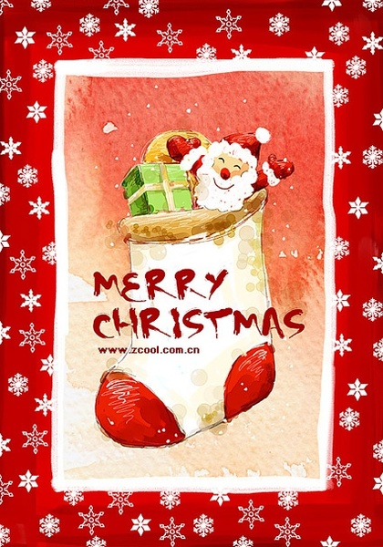 handpainted christmas posters psd layered 6
