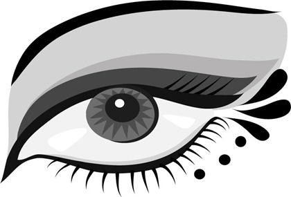 eye icon sketch closeup black white style