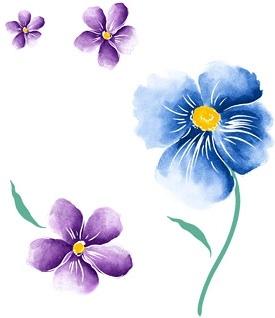 handpainted flowers layered psd 1