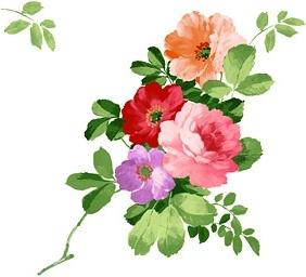 handpainted flowers layered psd 3