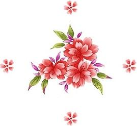 handpainted flowers layered psd 7