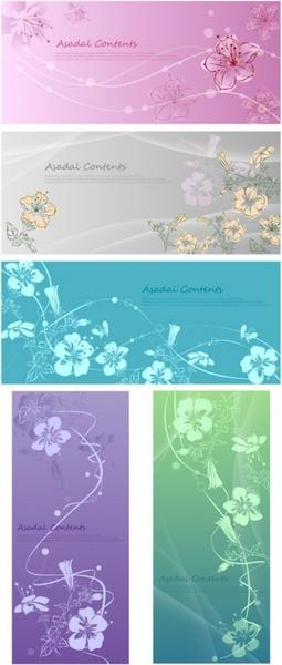 handpainted flowers vector dream