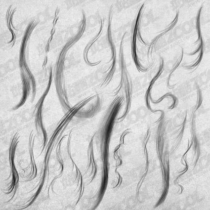 handpainted hair psd layered