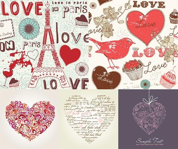 handpainted love element vector