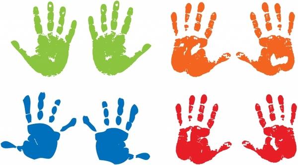 Handprints Free vector in Adobe Illustrator ai ( .AI ...