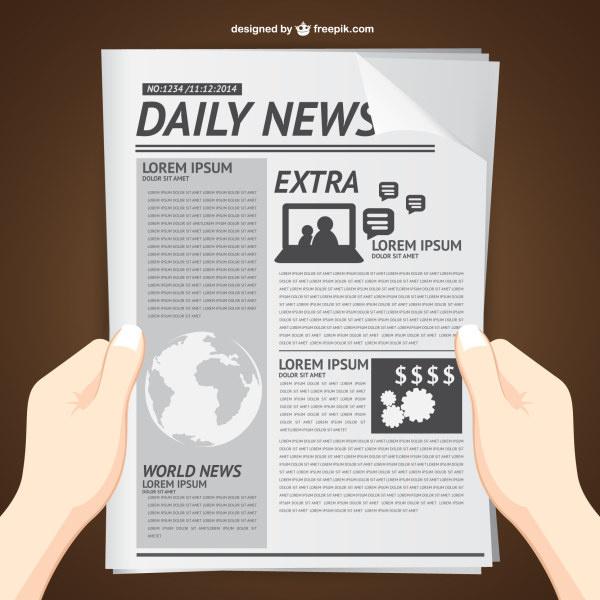 newspaper vector free vector download  168 free vector