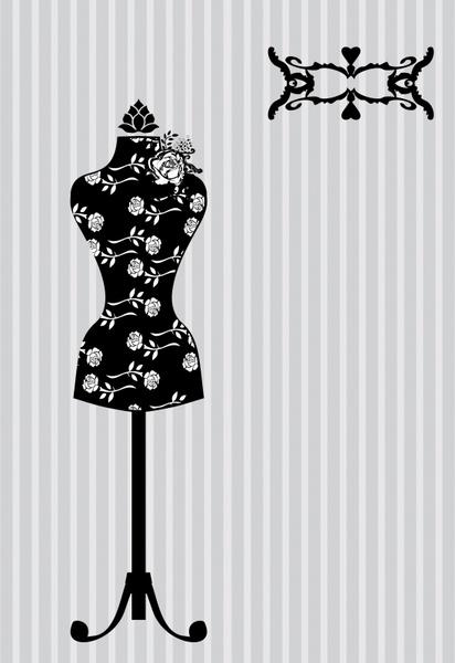 fashion background black white classic tripod clothes sketch