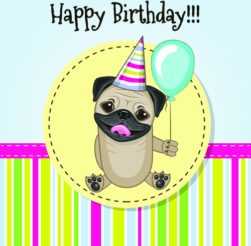 Happy Birthday Baby Greeting Cards Vector Free Vector In