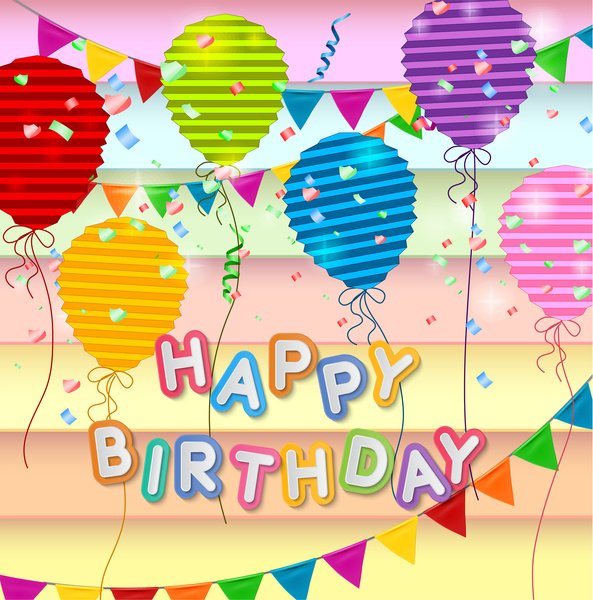 Happy birthday card design template Free vector in Adobe Illustrator ...