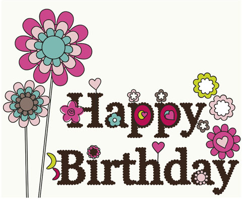 Happy Birthday Elements Card Vector Free Vector In Encapsulated