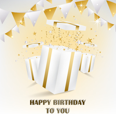Happy Birthday Gift Card Vector Design Free 383MB