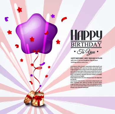 Happy Birthday Greeting Card Graphics Vector Free Vector In