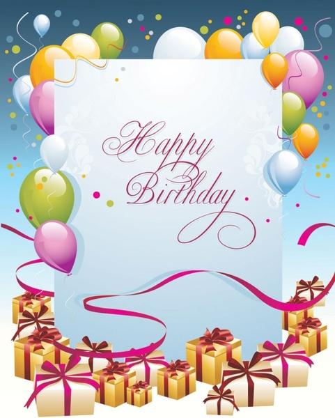 Happy Birthday Postcard 03 Vector Free Vector In Encapsulated