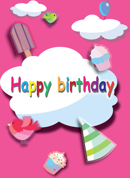 happy birthday poster free vector in adobe illustrator ai ai